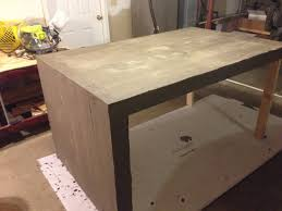 Concrete Kitchen Island by Concrete Table With A Rolling Kitchen Island Underneath Album