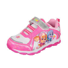 paw patrol light up sneakers paw patrol girls light up sneakers sizes 7 12 walmart com