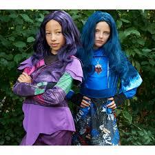 halloween wigs for sale buy disney u0027s descendants kids mal isle of the lost deluxe costume