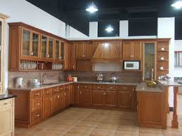 Cherry Wood Kitchen Cabinets by Kitchen Extraordinary Solid Wood Kitchen Brown Color Wooden