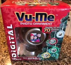 details about vu me digital photo ornament displays up to 70