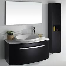 Perfect Modern Bathroom Vanities And Cabinets His Her Sinks With - Black bathroom cabinet with sink