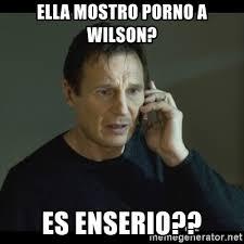 Porno Meme - ella mostro porno a wilson es enserio i will find you meme