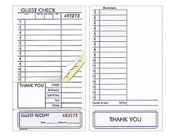 guest check presenters free guest checks restaurantdiscountwarehouse