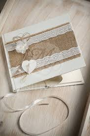 vintage guest book handcrafted vintage guest book embellished with burlap broderie
