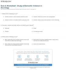Spousal Abuse Essays Ap Biology Quiz U0026 Worksheet Study Of Domestic Violence In Sociology Study Com