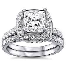 overstock wedding ring sets sterling silver diamond bridal sets wedding ring sets overstock