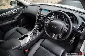 infiniti jeep interior 2017 infiniti q50 3 0t silver sport review video performancedrive