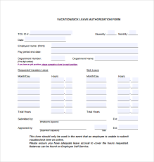 sample leave authorization form 5 free documents in pdf