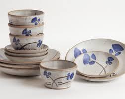 pottery dinnerware etsy