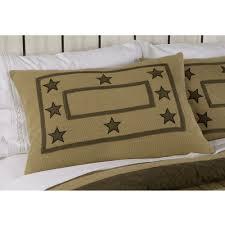 burlap star quilt pillow sham country style beddinng