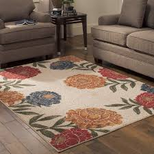 better homes and gardens garden peonies berber print area rugs or