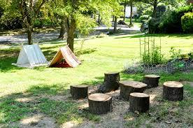 a backyard camping party