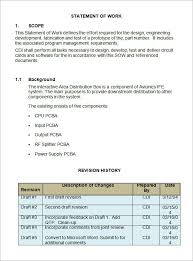 sample statement of work template 12 free documents download in