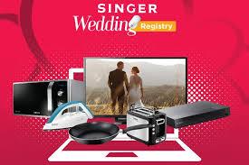 wedding registry electronics singer launches online wedding registry lanka