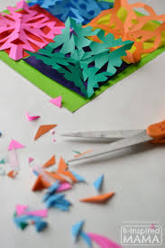 kids art quilt paper snowflakes inspired mama