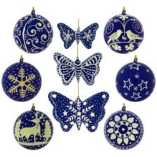 dark blue christmas ornaments