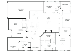 large one story house plans plans single story 4 bedroom house plans