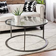 glass top for table round clay alder home round glass top metal coffee table free shipping