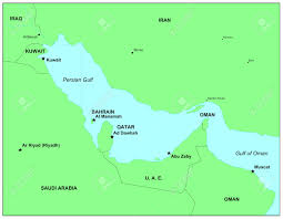 Map Of Persian Gulf Sea Maps Series Persian Gulf Stock Photo Picture And Royalty