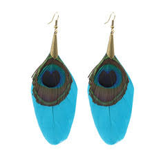 peacock feather earrings s popular peacock feather earings buy cheap peacock feather earings