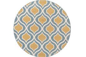 Yellow Circle Rug Yellow Round Rug Living Spaces