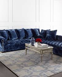blue sectional sofa with chaise chaise sectional sofa horchow com