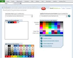 excel u0027s color palette compatibility solution