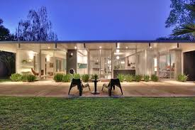 Eichler Hosue Exterior Art For Eichler Homes With Concrete Patio Flooring And