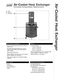 air cooled heat exchanger john crane pdf catalogue technical