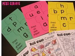 miss giraffe u0027s class cvc words roll