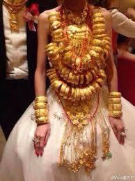 gold wedding bracelet images Bride wears 70 gold bracelets in s china china cn jpg