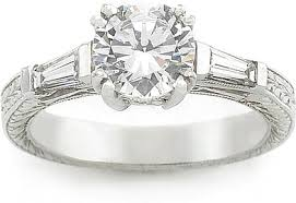 engagement rings with baguettes tacori baguette engagement ring 10990