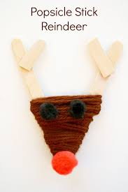 Kids Reindeer Crafts - popsicle stick reindeer craft for kids craft preschool