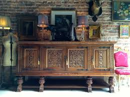 Solid Oak Buffet by Stunning Huge French Carved Sideboard Credenza Solid Oak Buffet