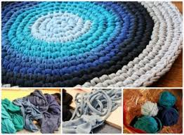 How To Make A Rag Rug From T Shirts Recycled T Shirt Rug U2013 Craftbnb