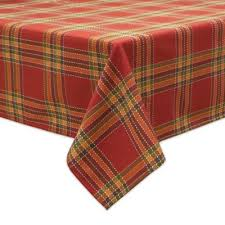 buy plaid tablecloths from bed bath beyond