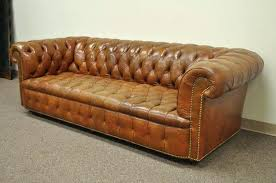 Tufted Brown Leather Sofa Beautiful Rolled Arm Sofa And Vintage Rolled Arm Style Button