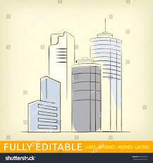 sketch line flat design business city stock vector 336646583