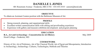 Best Resume Profiles by Stunning Profile In Resume Example For Student 52 On Best Resume