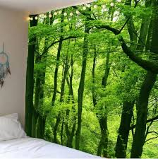 Hanging Home Decor Green W79 Inch L79 Inch Home Decor Waterproof Forest Wall