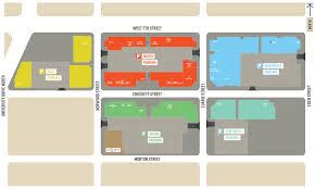 shopping center map crockett row at west 7th