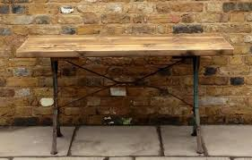 industrial tables for sale garden table with heavy antique cast iron legs and a reclaimed pine