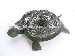 wrought iron figurine yard patio porch home decor metal turtle