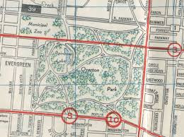 Memphis Map Overton Park Exwy Crème De Memph