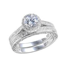 bridal sets uk newshe 2 4 carats cut cz rhodium plated wedding ring set