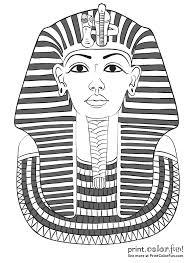 king tut coloring page king tutankhamuns mask coloring page print