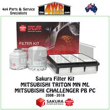 mitsubishi triton 2018 sakura filter kit mitsubishi triton ml mn u0026 challenger 2008 2018