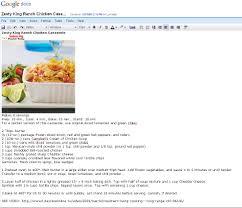 the perfect recipe organizer google docs it u0027s free the food