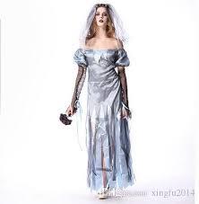 Dead Bride Halloween Costumes 2017 Halloween Zombie Costume Cosplay Corpse Bride Dress
